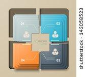 inforgraphic  1  2  3  4 | Shutterstock .eps vector #143058523