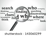 a magnifying glass over a... | Shutterstock .eps vector #143060299