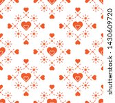 cute seamless pattern with... | Shutterstock .eps vector #1430609720