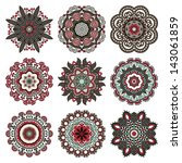 circle ornament  ornamental... | Shutterstock .eps vector #143061859