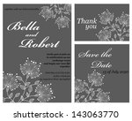 wedding or invitation card.... | Shutterstock .eps vector #143063770