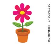 Bright Cartoon Flower In The...