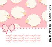 Baby Pink Sheep Card