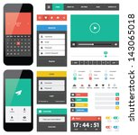 background,bar,button,collection,concept,creative,data,design,diagram,download,element,flat,flat design,form,gui