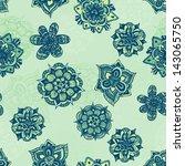 seamless vector floral pattern.   Shutterstock .eps vector #143065750