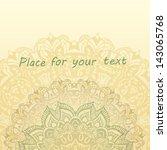 doodle vector floral background   Shutterstock .eps vector #143065768