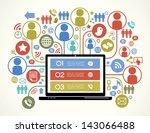 a modern set of infographics...   Shutterstock .eps vector #143066488