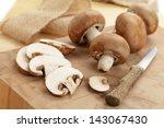 fresh brown mushrooms | Shutterstock . vector #143067430