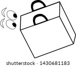icon bag. eyes look in the... | Shutterstock .eps vector #1430681183