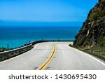 Highway 1 In California Curved...