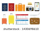 travel or holiday set... | Shutterstock .eps vector #1430698610