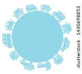 passenger cars of silhouette... | Shutterstock .eps vector #1430698853