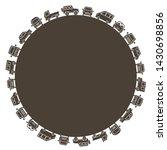 passenger cars of small... | Shutterstock .eps vector #1430698856