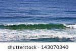 a line of bottlenose dolphins... | Shutterstock . vector #143070340