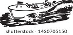 speed boat   retro ad art... | Shutterstock .eps vector #1430705150