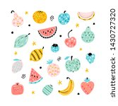 cartoon doodle cute fruits and...   Shutterstock .eps vector #1430727320
