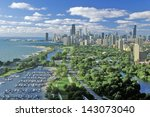 Aerial View Of Chicago  Illinois