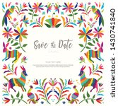 colorful mexican traditional... | Shutterstock .eps vector #1430741840