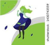 dancer woman illustration for...