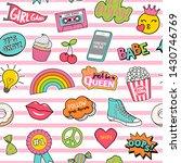 cute teenage girls fashion... | Shutterstock .eps vector #1430746769
