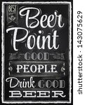 poster lettering people drink... | Shutterstock .eps vector #143075629