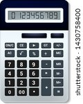 calculator vector business... | Shutterstock .eps vector #1430758400