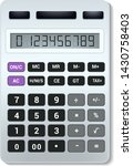 calculator vector business... | Shutterstock .eps vector #1430758403