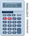calculator vector business... | Shutterstock .eps vector #1430758406