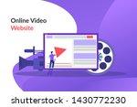 online video. video marketing...   Shutterstock .eps vector #1430772230
