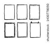 handdrawn doodle frame...   Shutterstock .eps vector #1430778050