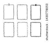 handdrawn doodle frame... | Shutterstock .eps vector #1430778053