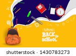 back to school with school... | Shutterstock .eps vector #1430783273