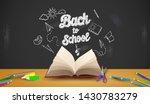 back to school with school... | Shutterstock .eps vector #1430783279