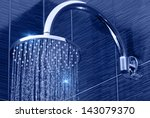 Closeup Of Chrome Shower Head...