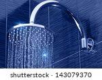 Closeup Of Chrome Shower Head...