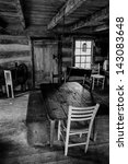 Interior Of A Historic Cabin I...
