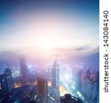 bird view at nanchang china.... | Shutterstock . vector #143084140