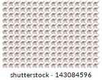 fabric elephants | Shutterstock . vector #143084596