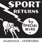 sport returns   retro ad art...   Shutterstock .eps vector #1430853866