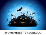 halloween background with... | Shutterstock . vector #143086300