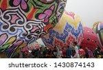 hundreds of balloons were... | Shutterstock . vector #1430874143