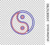 ying yang symbol of harmony and ... | Shutterstock .eps vector #1430876780
