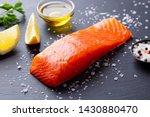 salmon fillet with sea salt ... | Shutterstock . vector #1430880470
