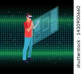 young man playing with screen... | Shutterstock .eps vector #1430900660