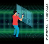 young man playing with screen... | Shutterstock .eps vector #1430900666