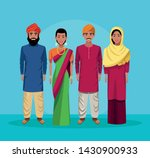 indian group of india wearing... | Shutterstock .eps vector #1430900933