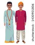 indian indian men man with... | Shutterstock .eps vector #1430901806