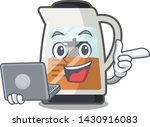 with laptop tea maker isolated... | Shutterstock .eps vector #1430916083