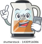 with phone tea maker isolated... | Shutterstock .eps vector #1430916086