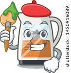 artist tea maker isolated with... | Shutterstock .eps vector #1430916089